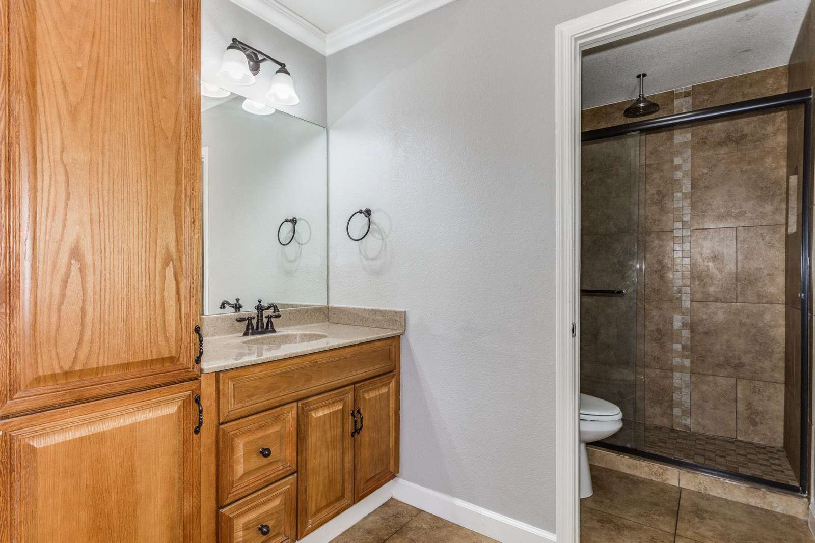 Master Bathroom With Toilet - Shower Closet.
