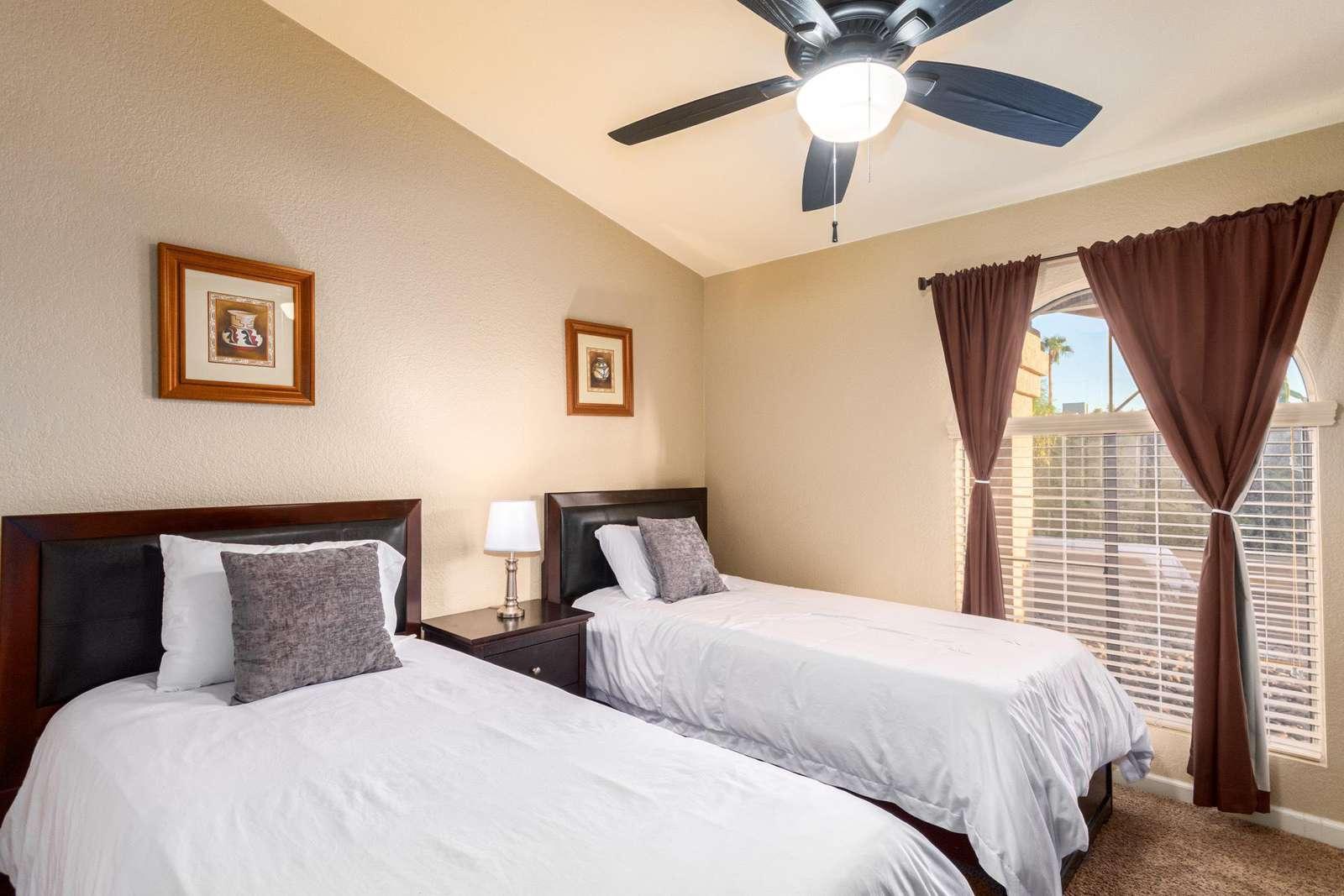 4th Bedroom Has 2 Twin Beds-TV.
