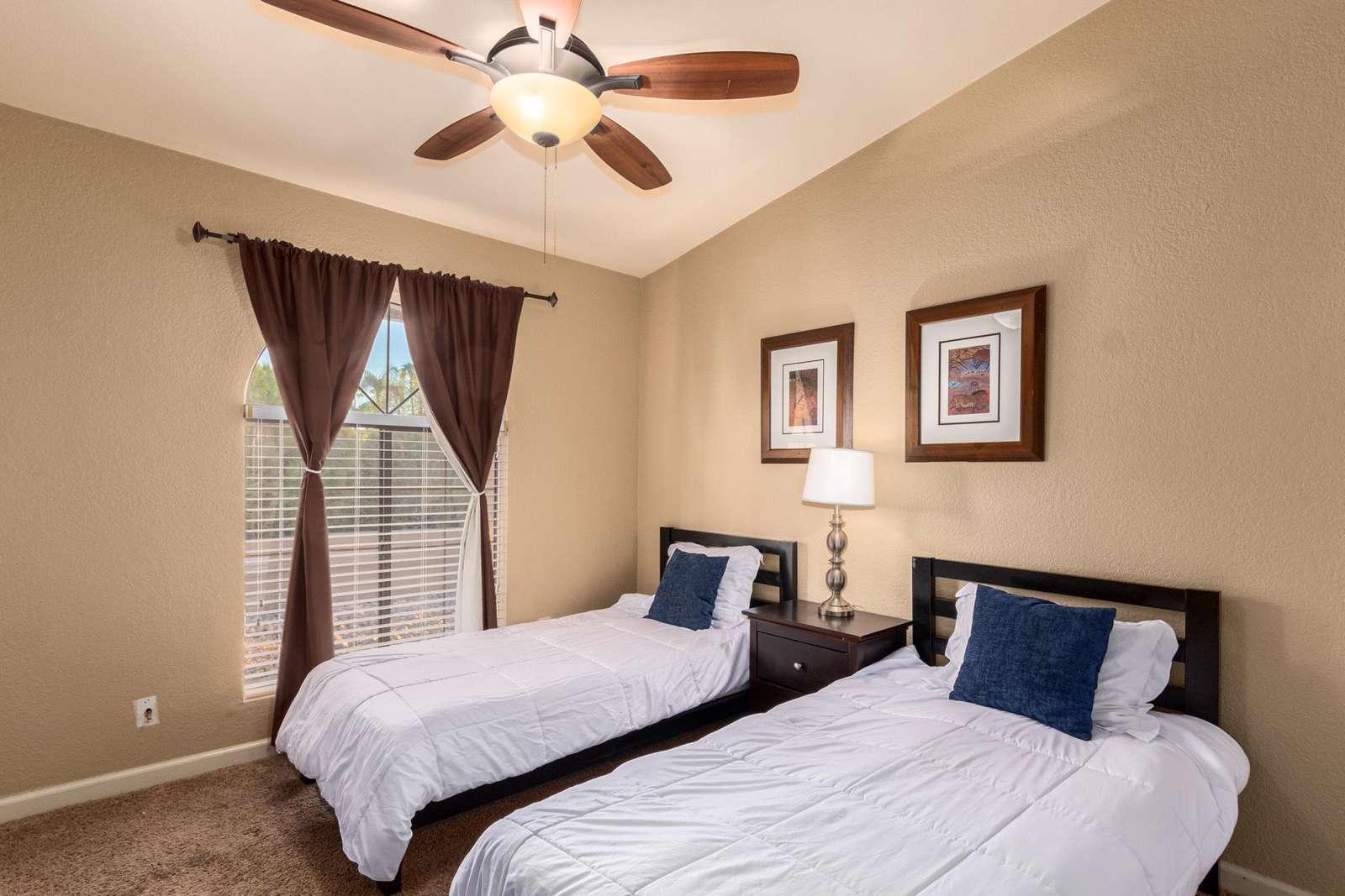 3rd Bedroom Has @ Twin Beds-TV-Full Bathroom.