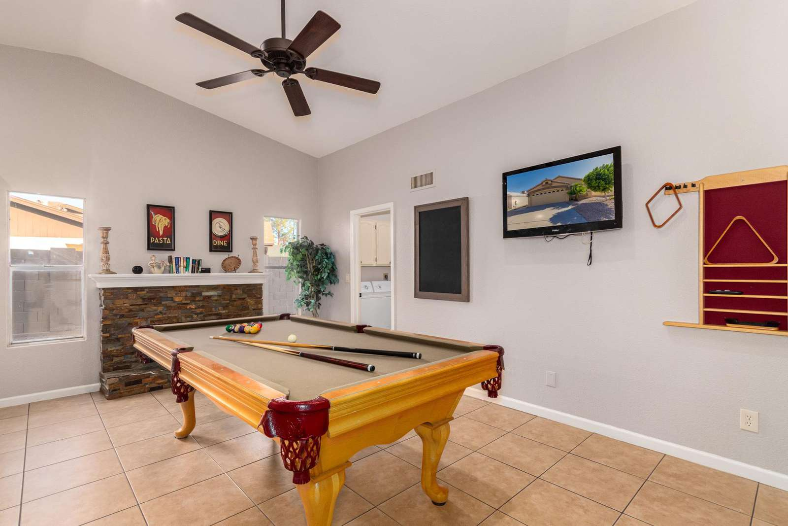 Family Room With Pool Table / TV