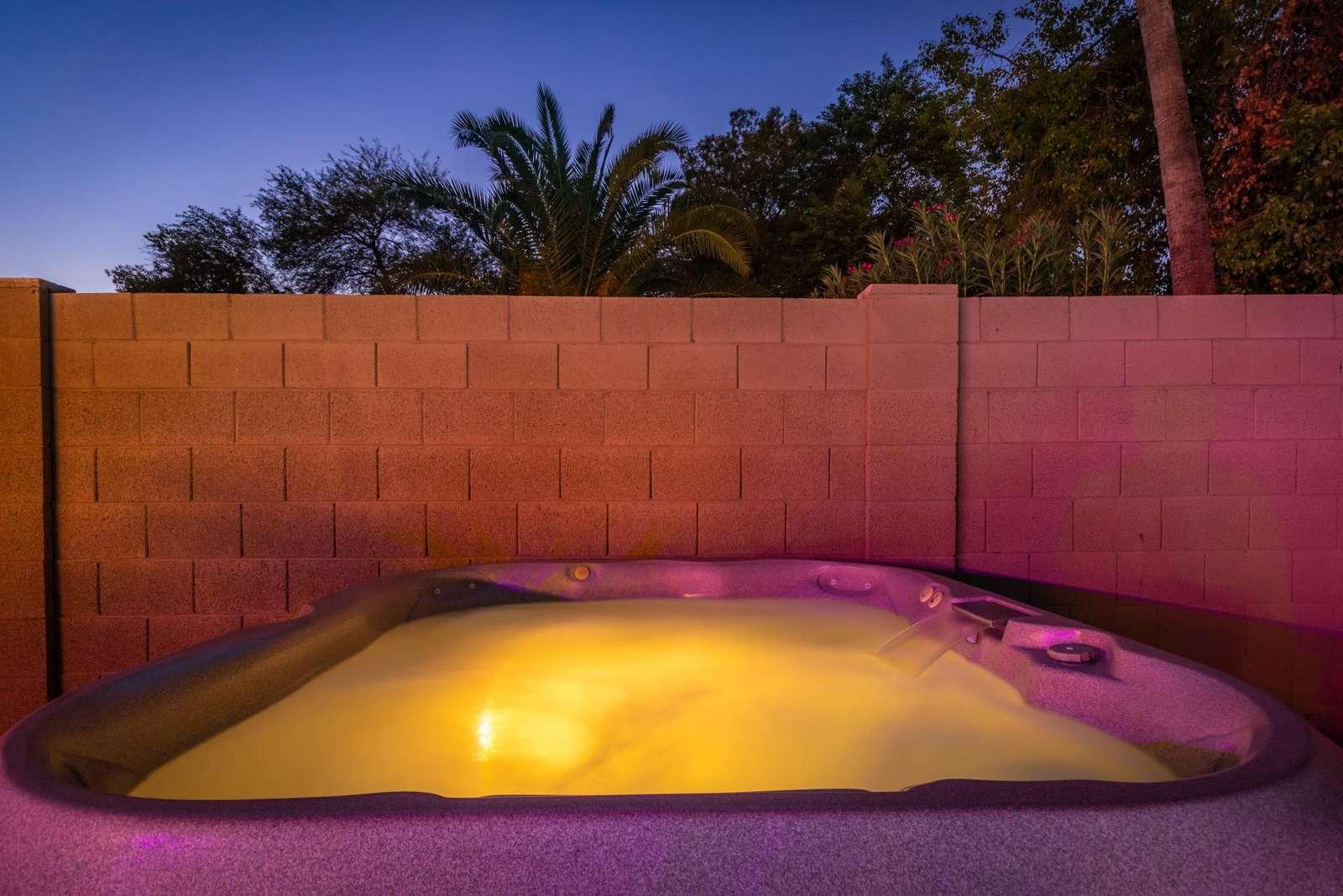 Full Size Hot Tub w/Waterfalls.