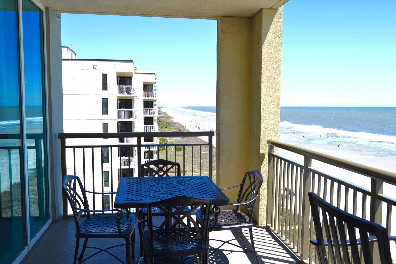Oceanfront corner, views