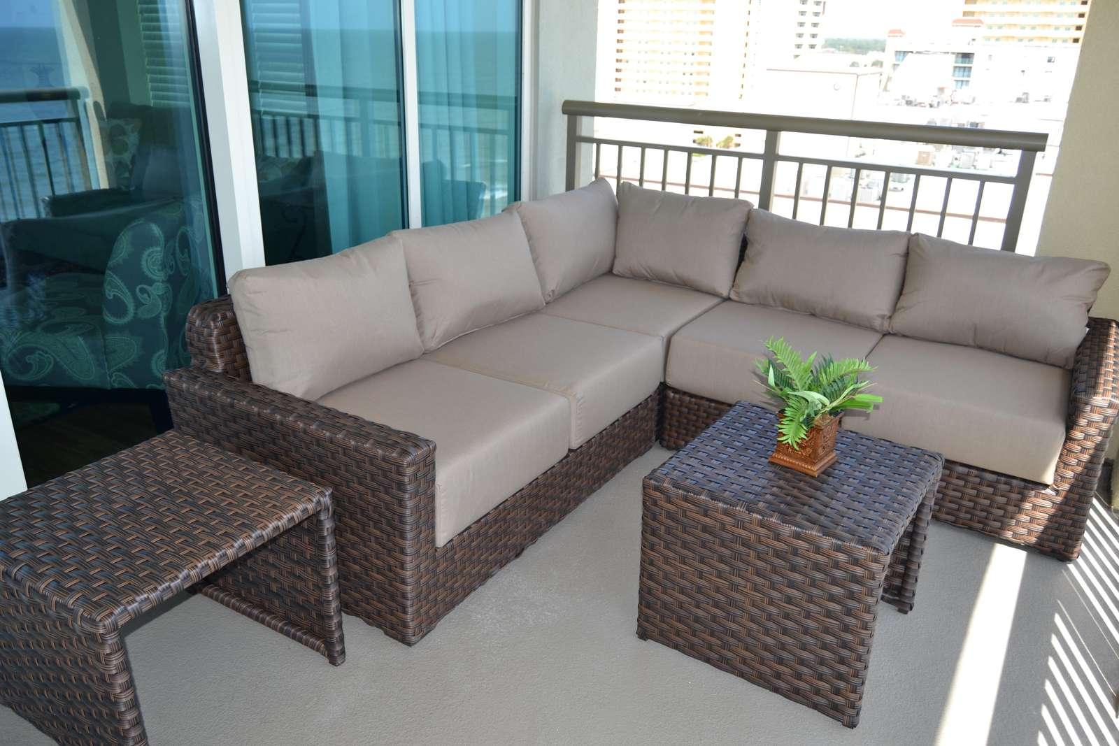 Upgraded patio furnishings