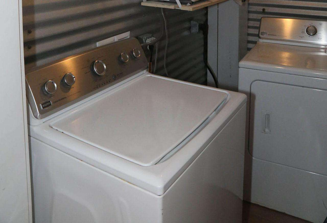 Laundry room full maytag washer & dryer