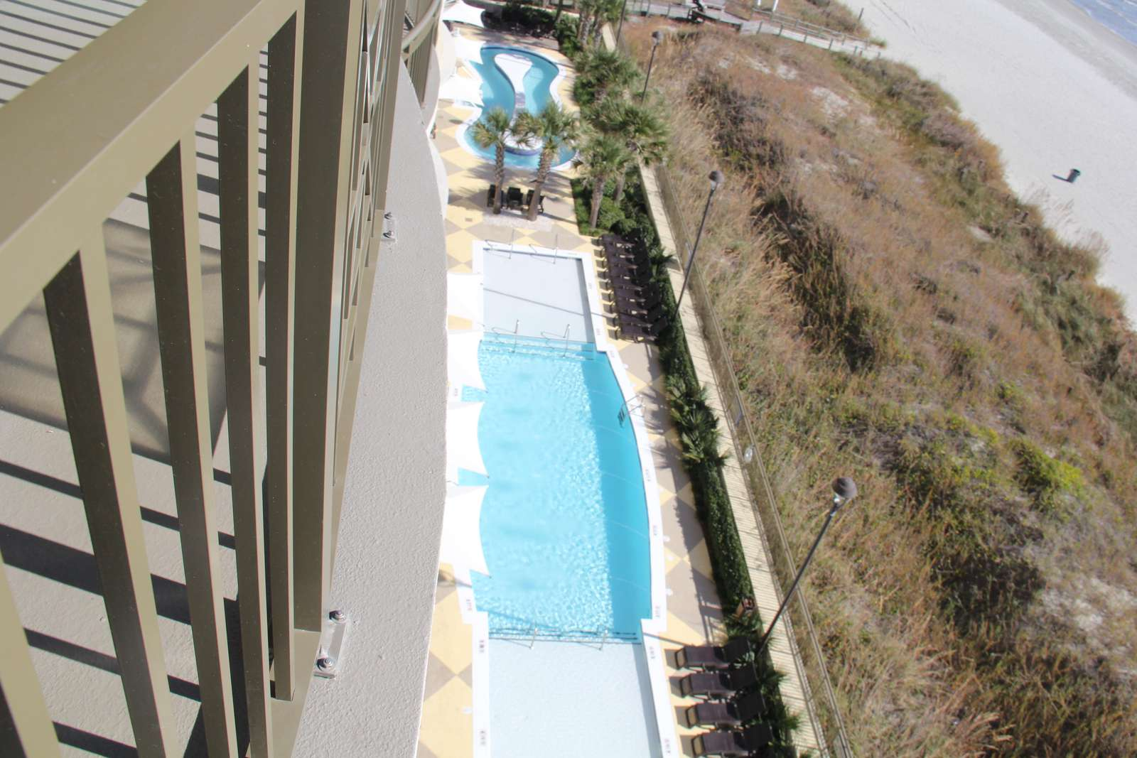 Pool Deck view from the balcony