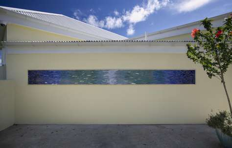 Personal Driveway with tiled Wall Mural