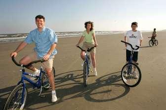 Biking on the Beach thumb