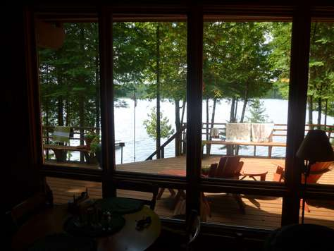 View from inside the cottage