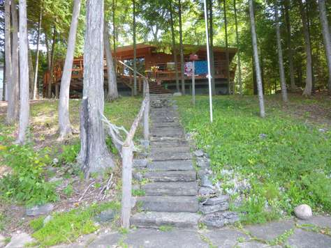 Steps up to the cottage