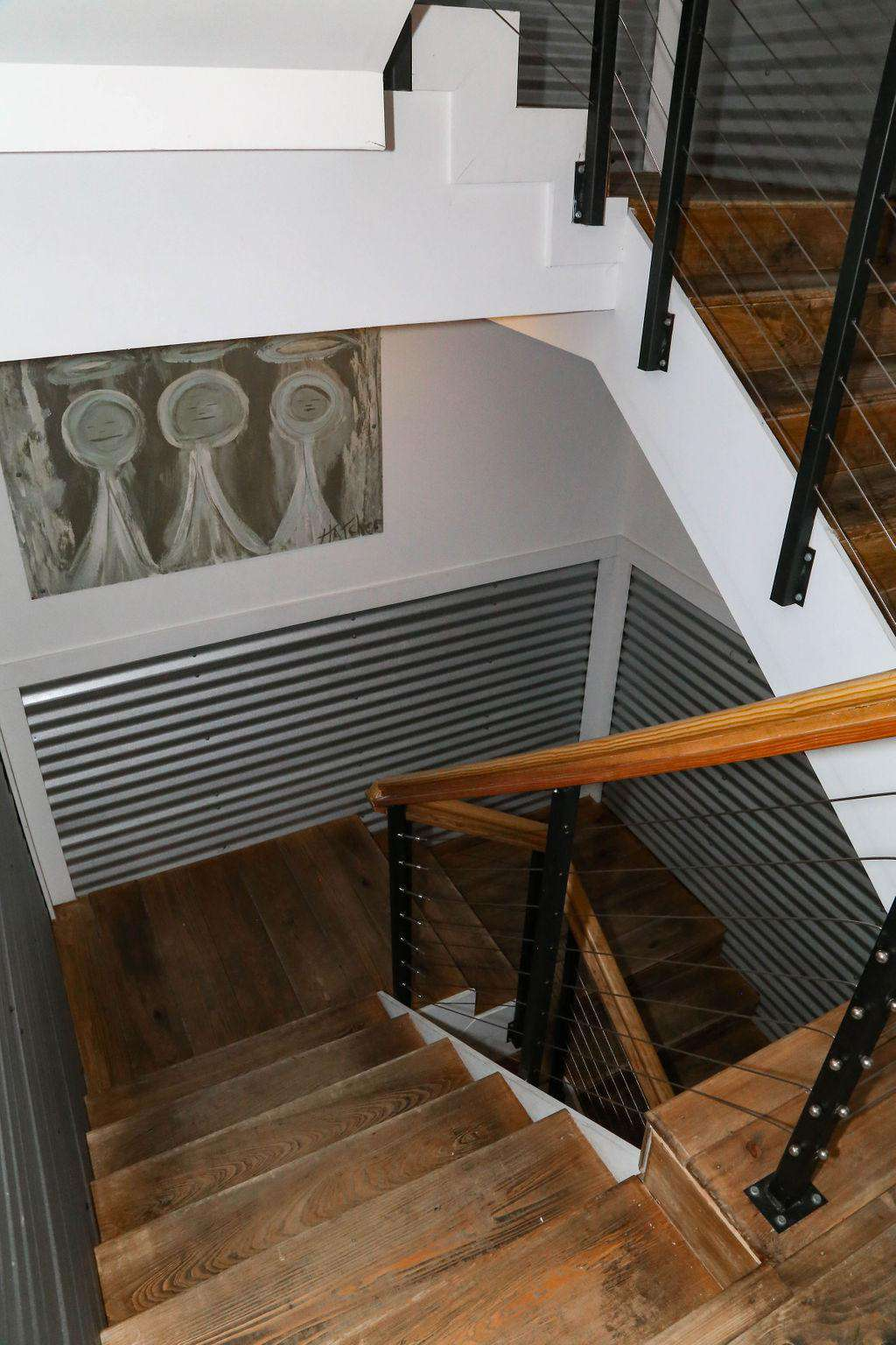 stairwell with custom art