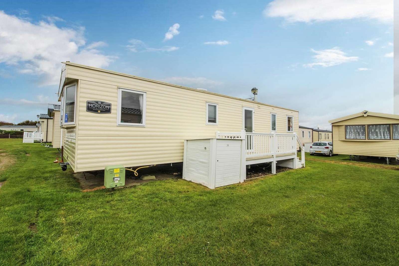 30020T – Thurne area, 3 bed, 8 berth caravan with decking. Ruby rated. - property