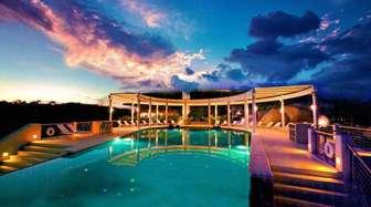 Peninsula pool at night thumb