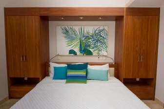King bed in Master bedroom with plenty of closet space thumb
