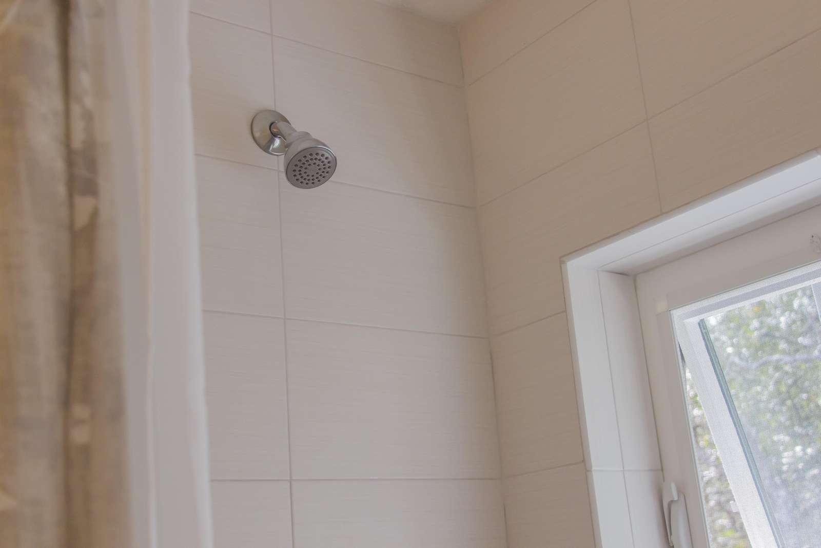 Shower in bath