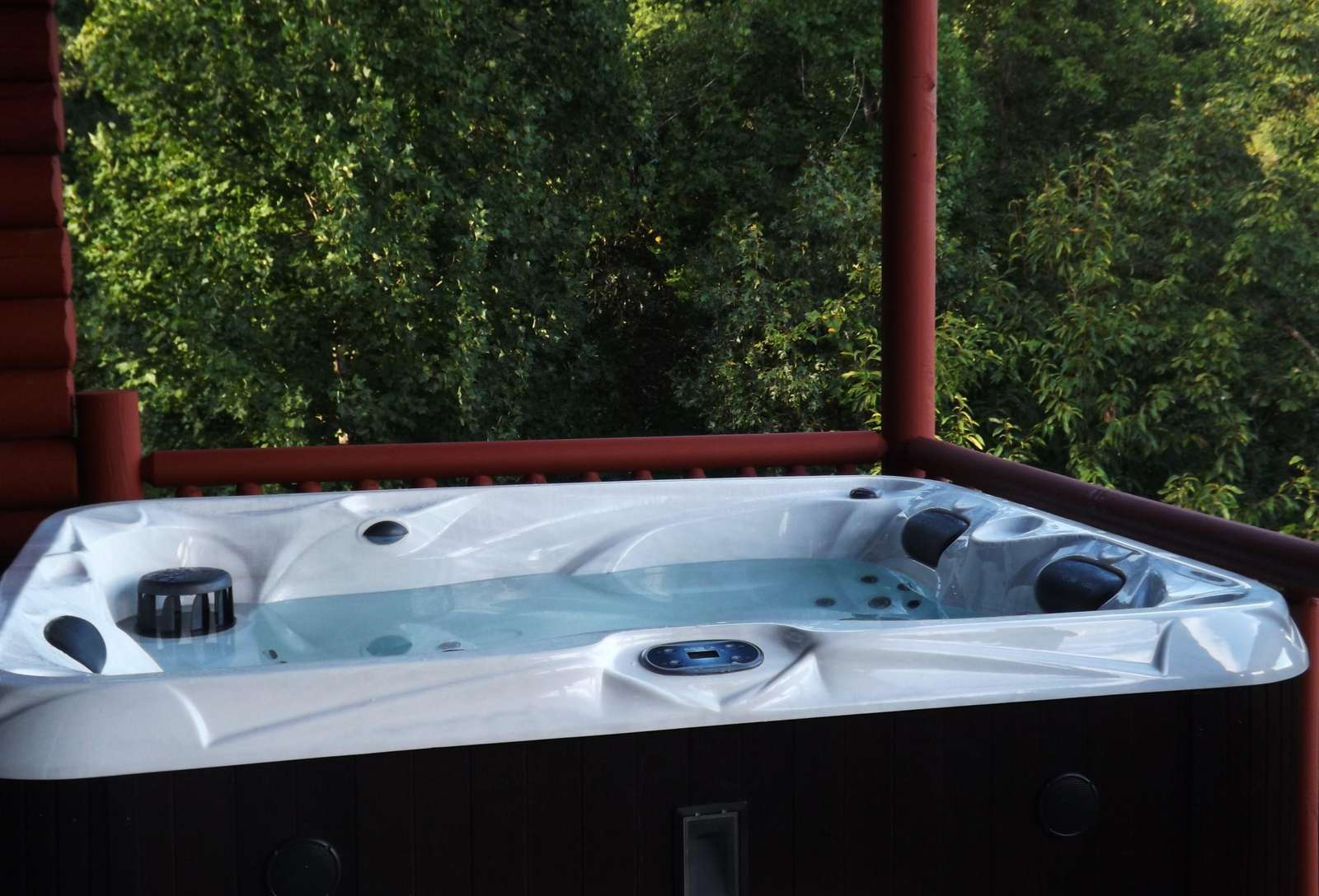 Hot Tub is very Private, Offers Long Range Mountain Views, and is accessible from the Master Suite!