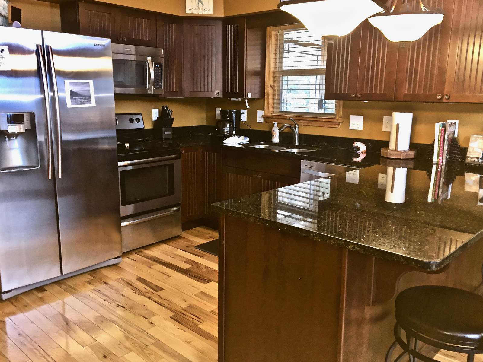 Kitchen is stocked and offers everything you will need to prepare and serve your meals