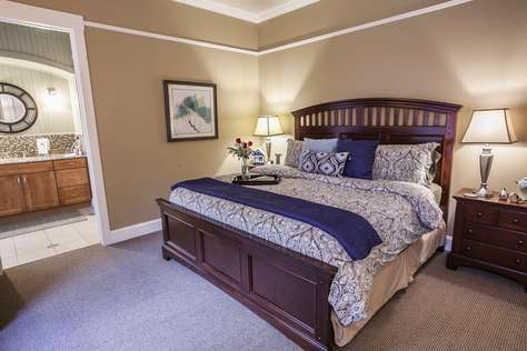 King Bed in the Master suite with Luxurious Linens (on Main level)