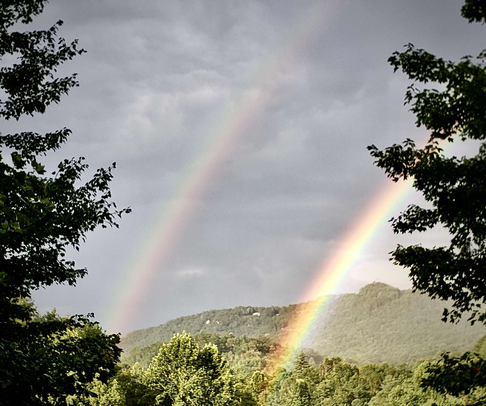 Lucky Double Rainbow photo was taken by our recent Guests. We appreciate them sharing this image with us!