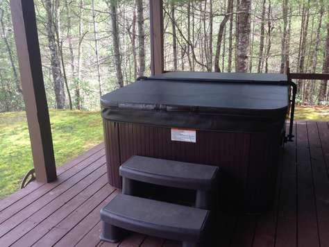 Sparkling Hot Tub is Very Private & Enjoys Mountain Views