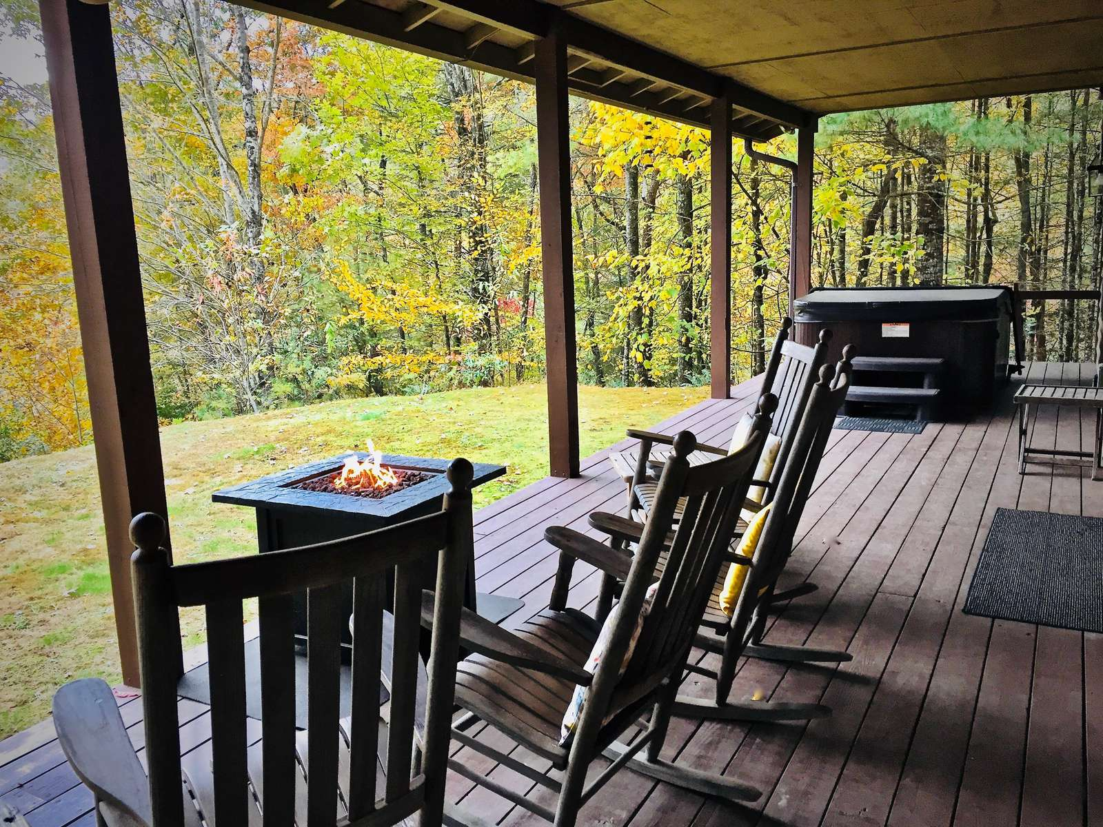 Expansive Covered Deck offers year round all weather enjoyment