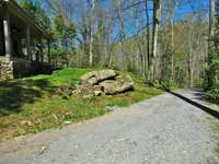 The driveway and drive leading to the cabin is compacted gravel thumb