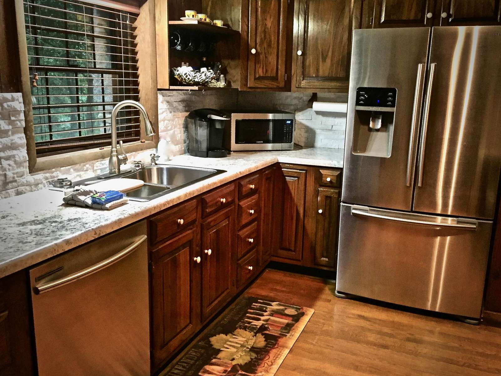 Upscale Stainless Appliances, and an upgraded Dishwasher (they did not have those in the olden days)