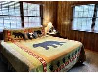 Plush and Luxurious King Bed. Open the windows to listen to the Creek and enjoy fresh mountain air... thumb