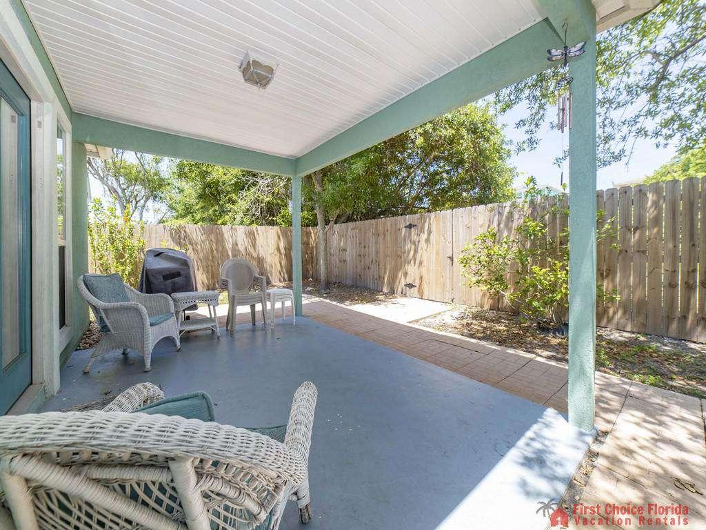 Magnolia Beach House - Rear Covered Patio