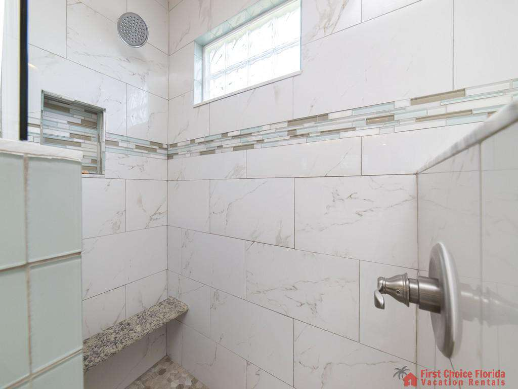 Magnolia Beach House - Master Bath walk-in Shower