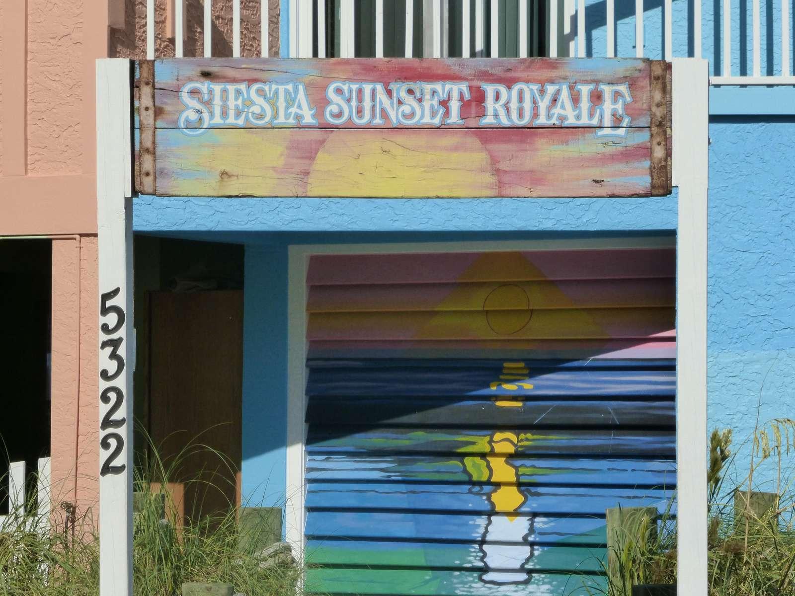 Siesta Sunset Royale entrance - property