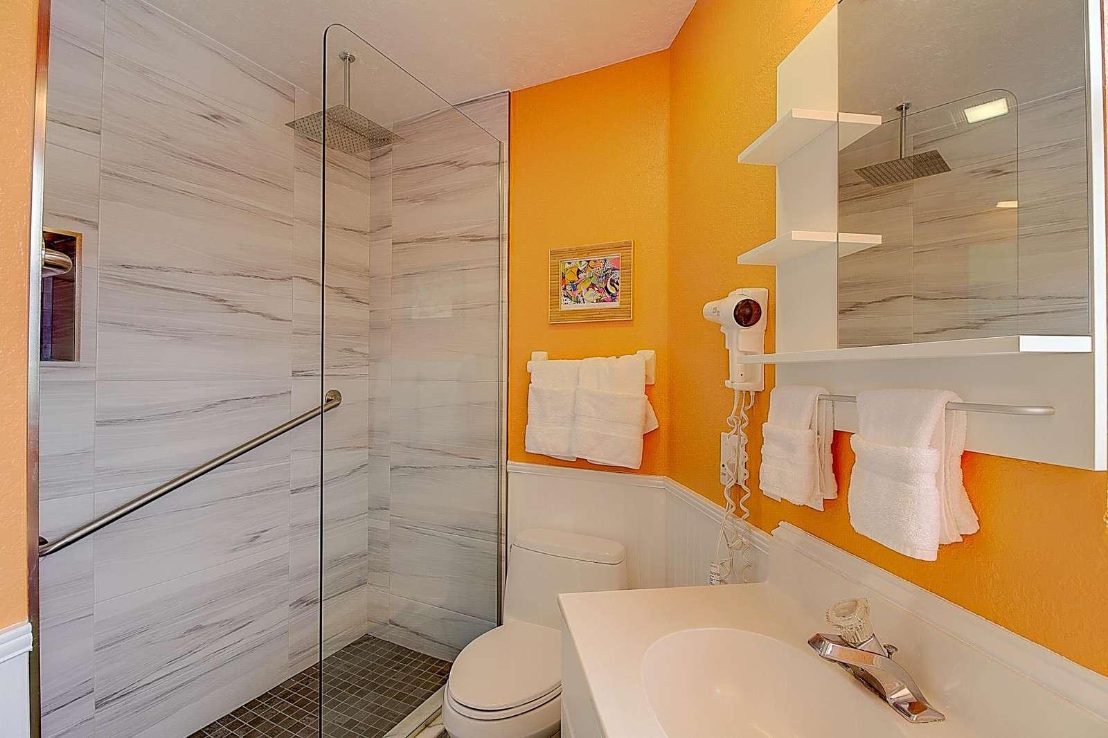 Studio #6 walk-in shower - property