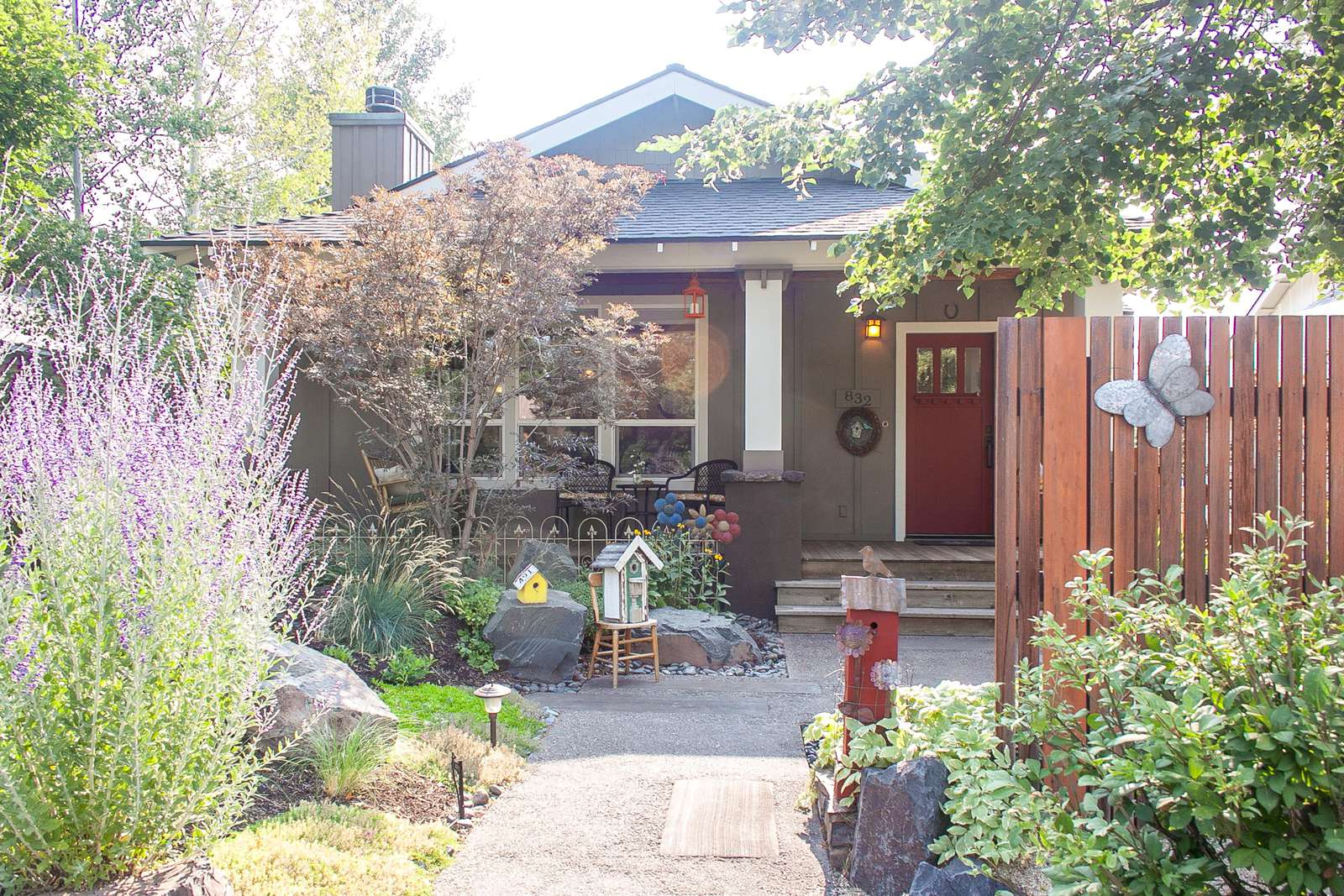 Bella Bird Bungalow is a garden oasis in the heart of Bend. Meander and peruse, the details are delightful! - property