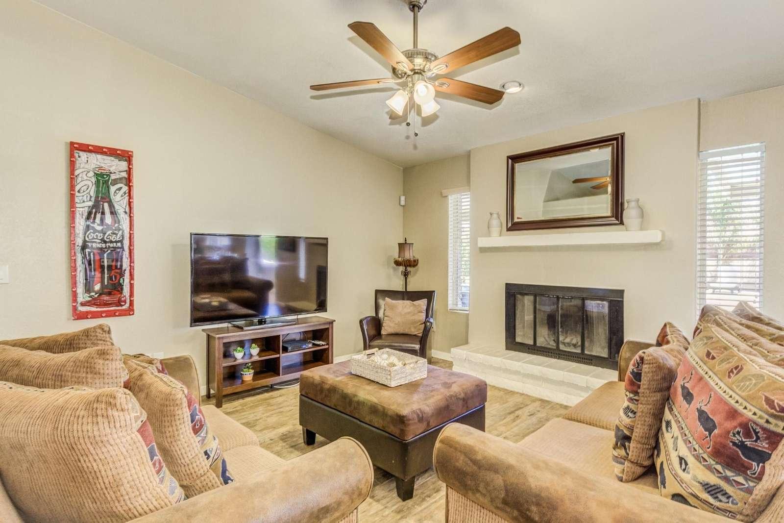 Spacious Living Area-Big TV