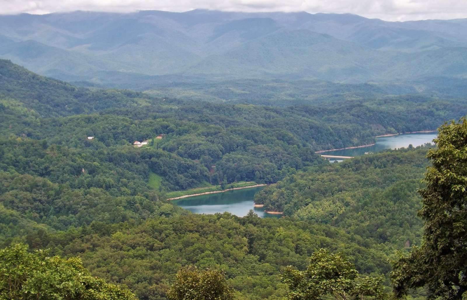 Lake Fontana and the Smoky Mountains (Photo taken from the Covered Deck)