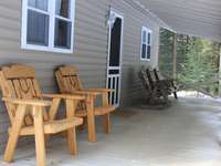Porch on Front of Cabin thumb