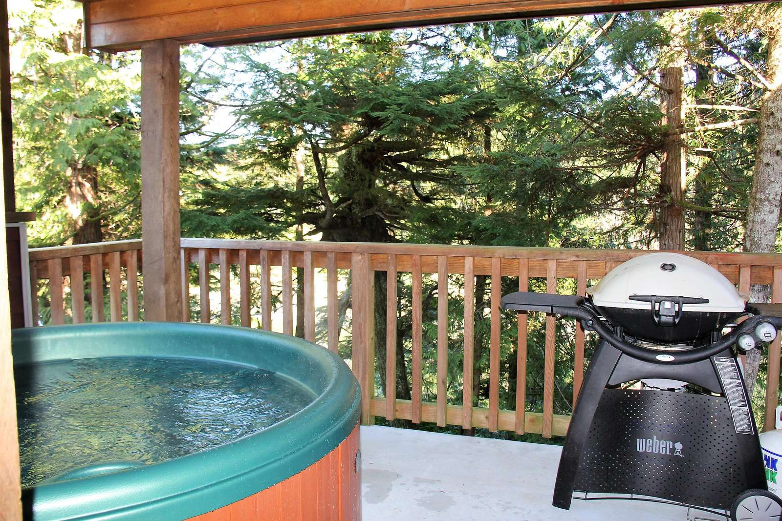 Hot Tub & BBQ on private waterfront deck - property