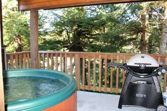 Hot Tub & BBQ on private waterfront deck thumb
