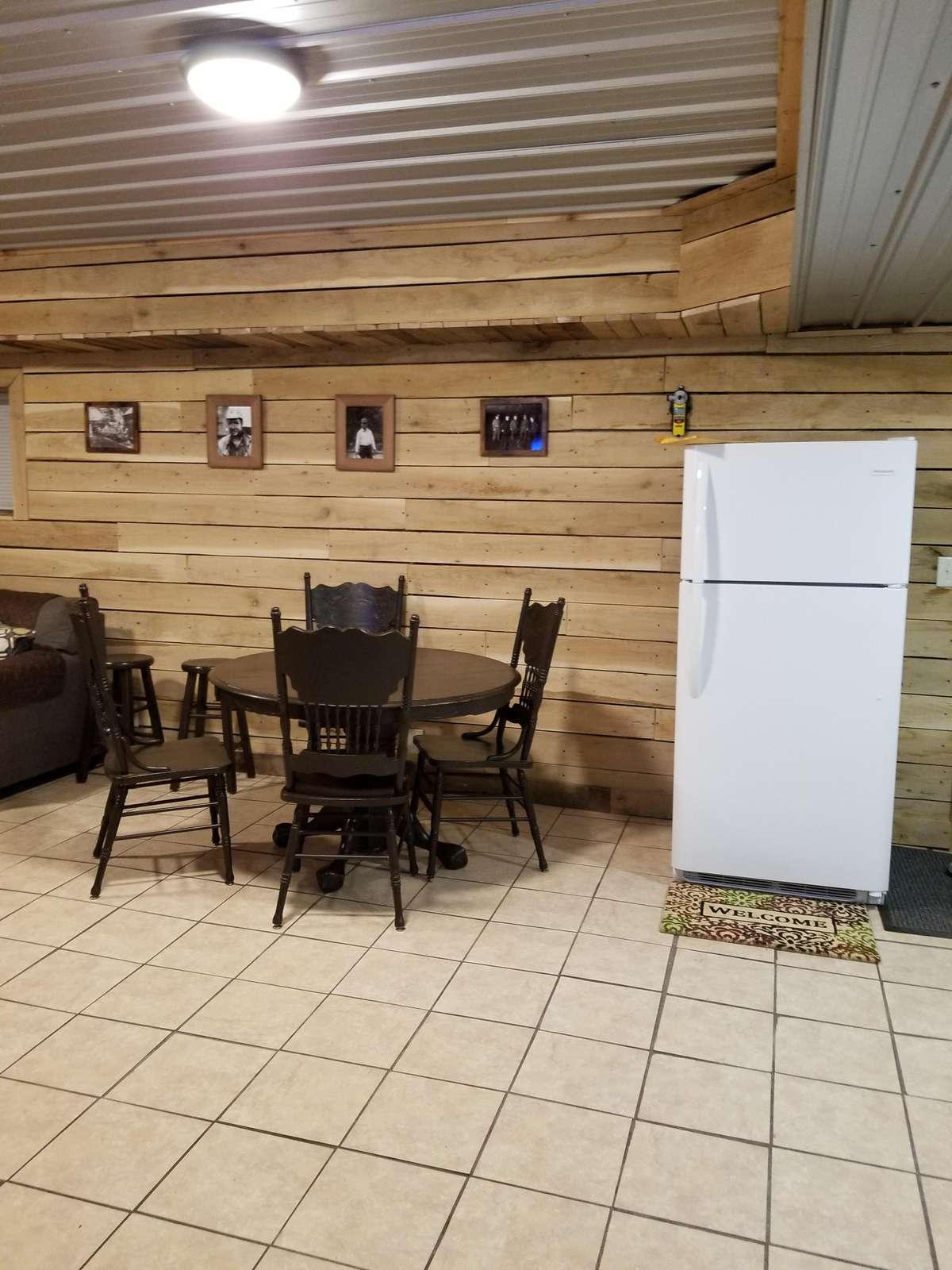 Dining area and refrigerator/freezer