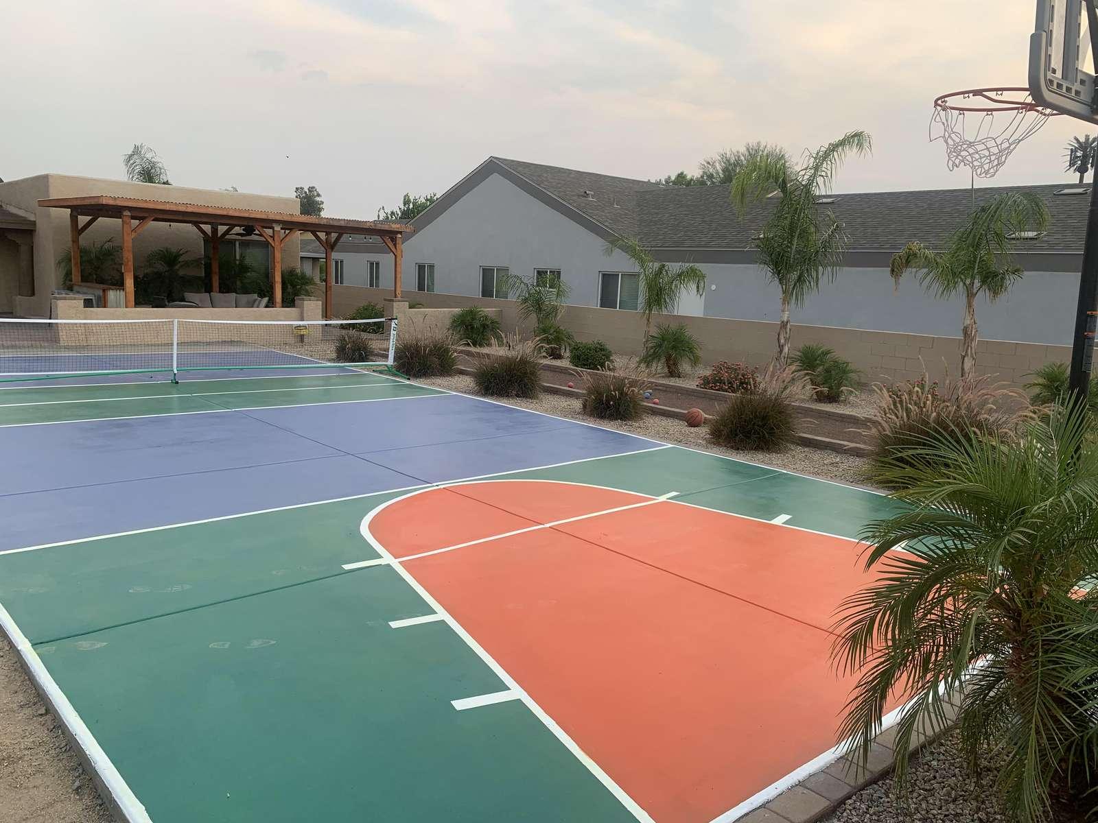 Brand New Basketball-Pickleball Sportscourt.