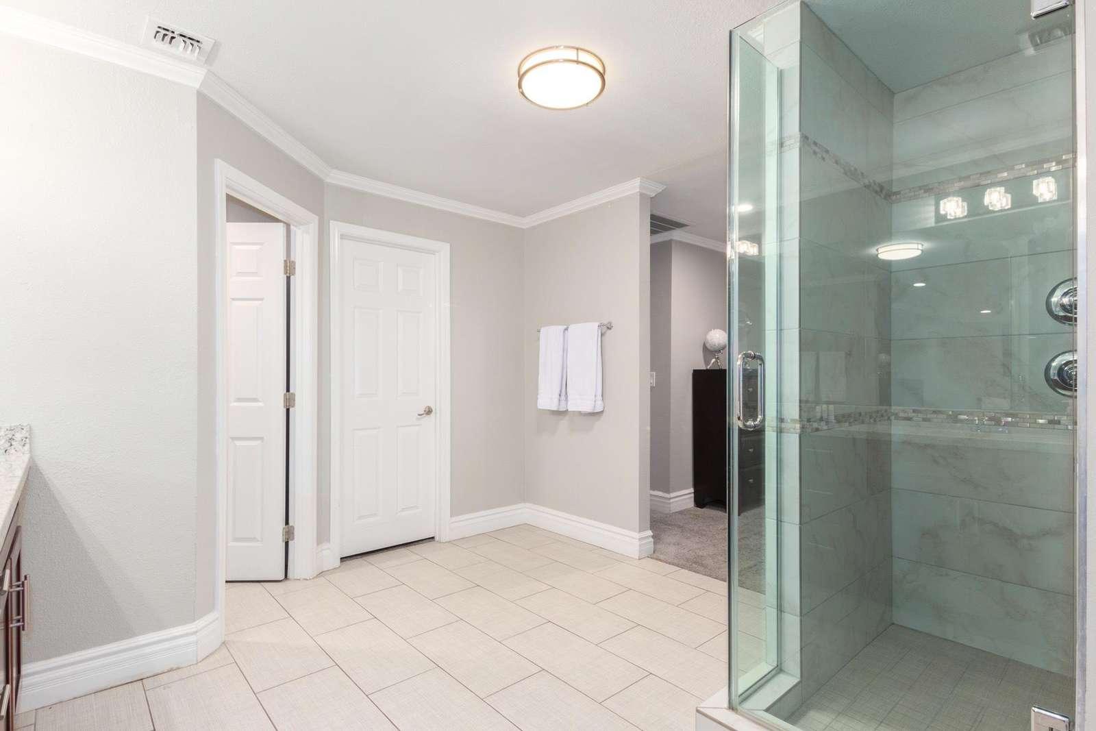 6th Bedroom Walk in Shower.