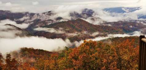 Views of the Smoky Mountains greet you from every room in the Cabin!