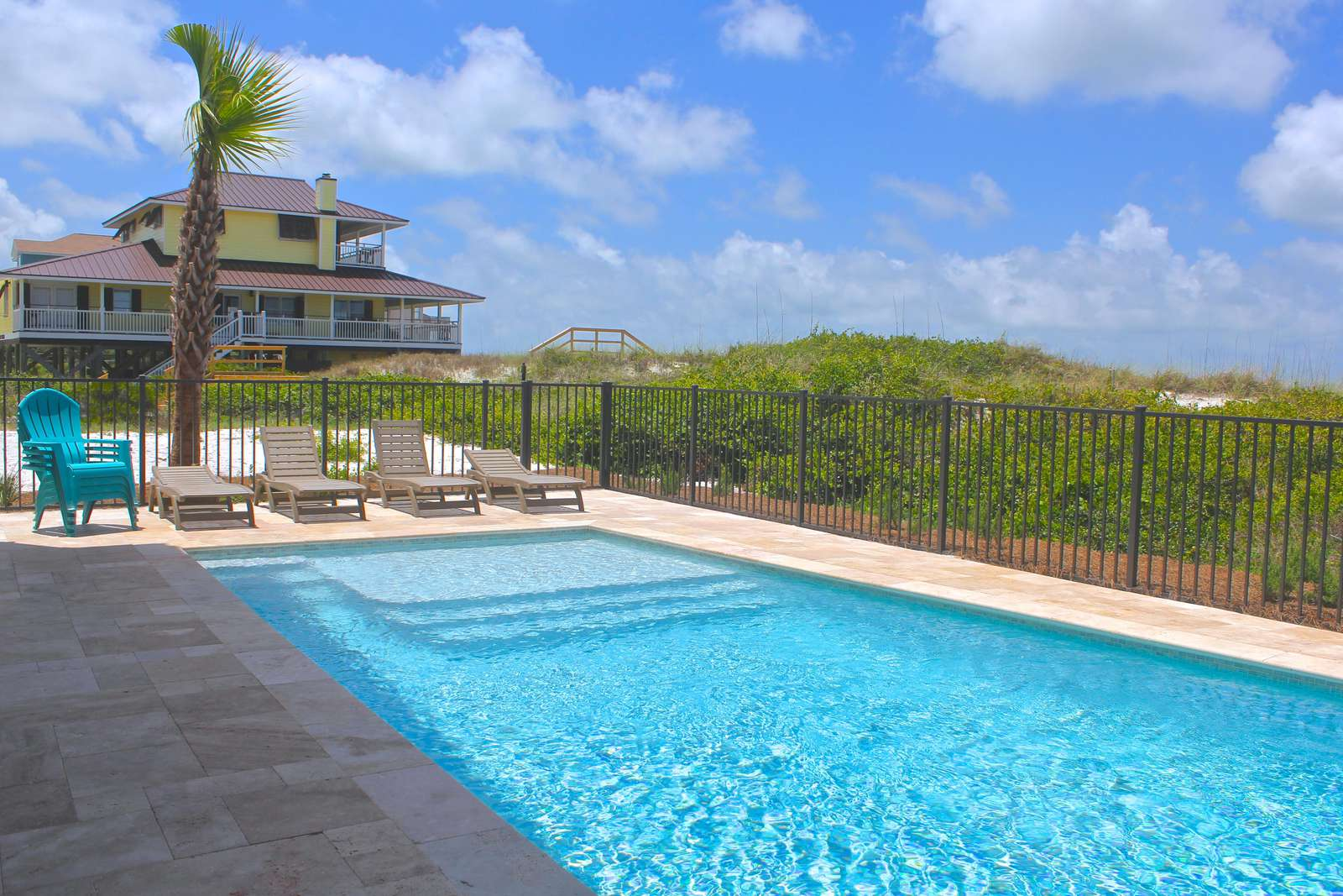 Large gulf front private pool