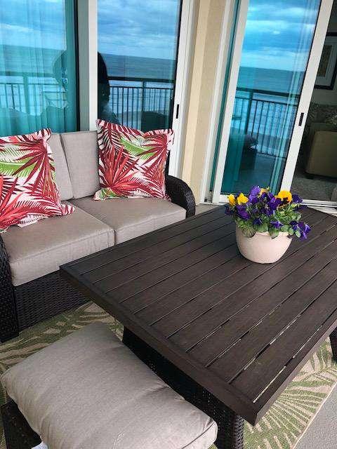 All new patio furnishings