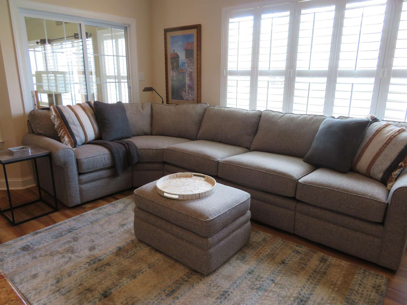 Family room sectional (includes sleeper sofa)