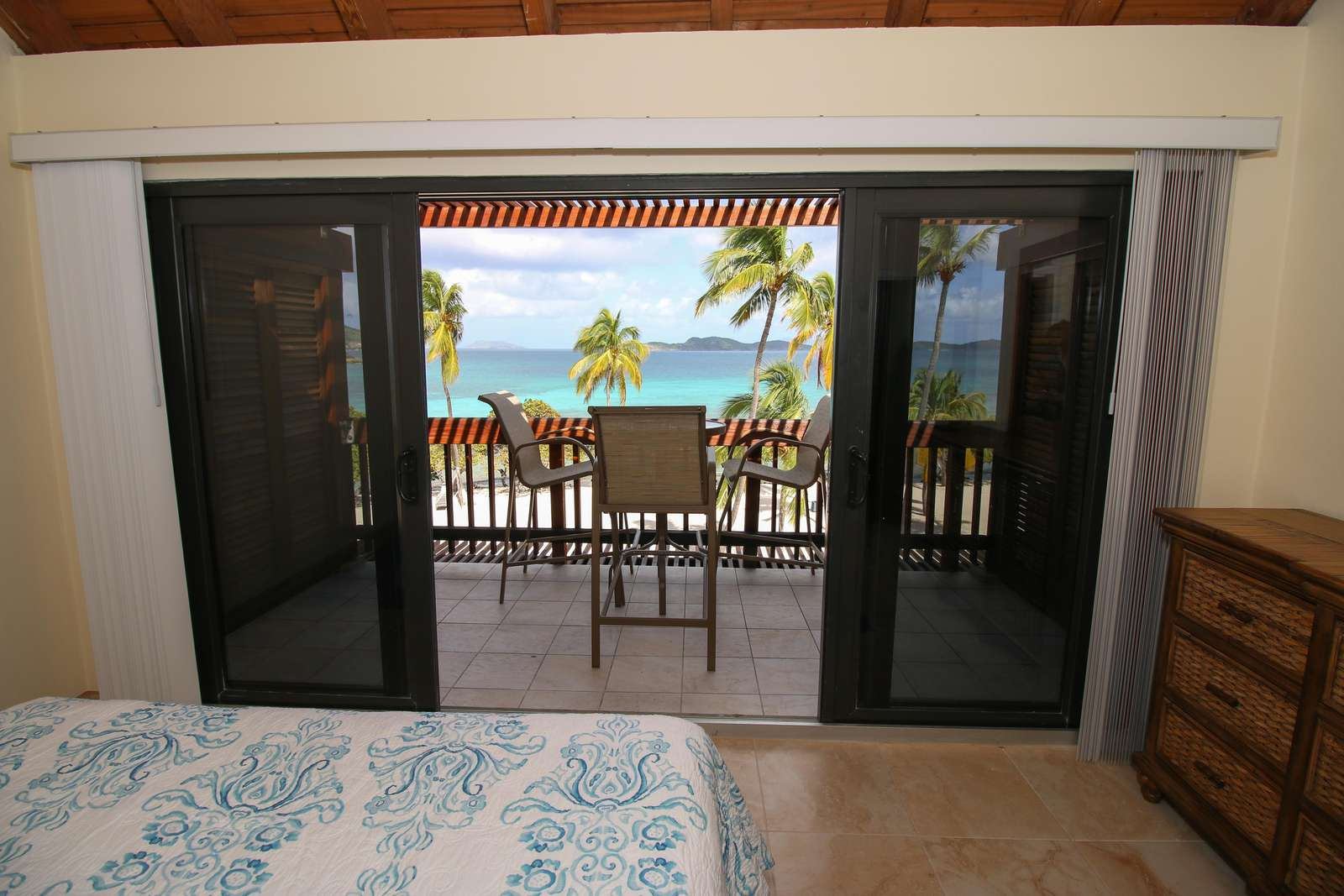 Master Bedroom view and patio