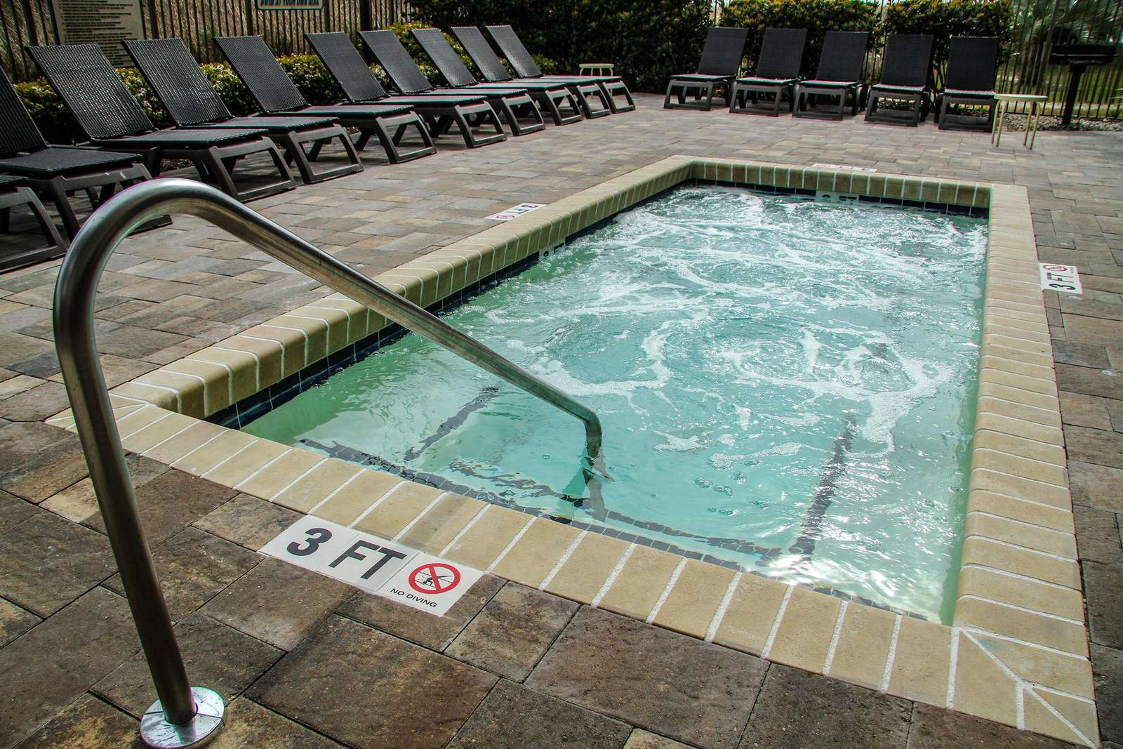 Outdoor hot tub area