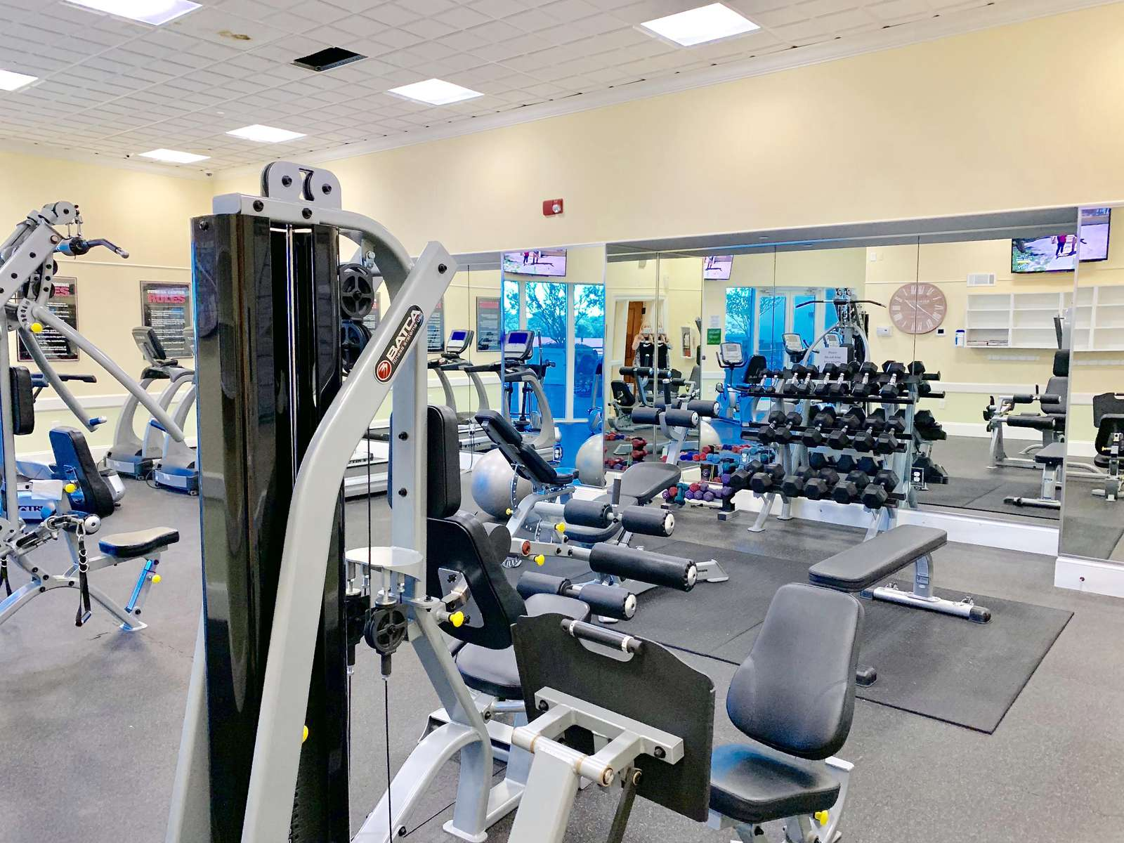 State of the art 5th floor fitness center