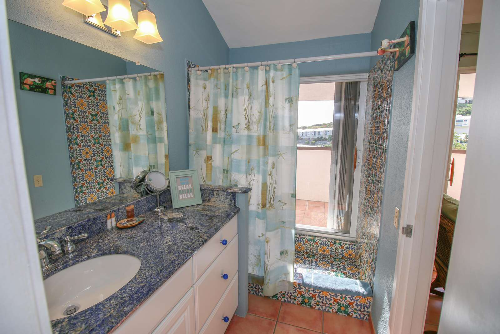 Master Bath with Shower and Ocean View