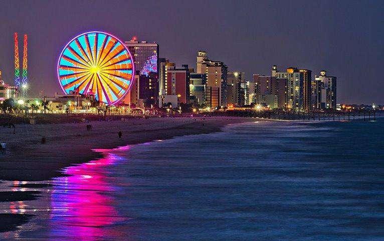 Myrtle Beach Sky Wheel at Night