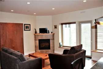 Gas fireplace & flat screen TV with fiber optic channels thumb